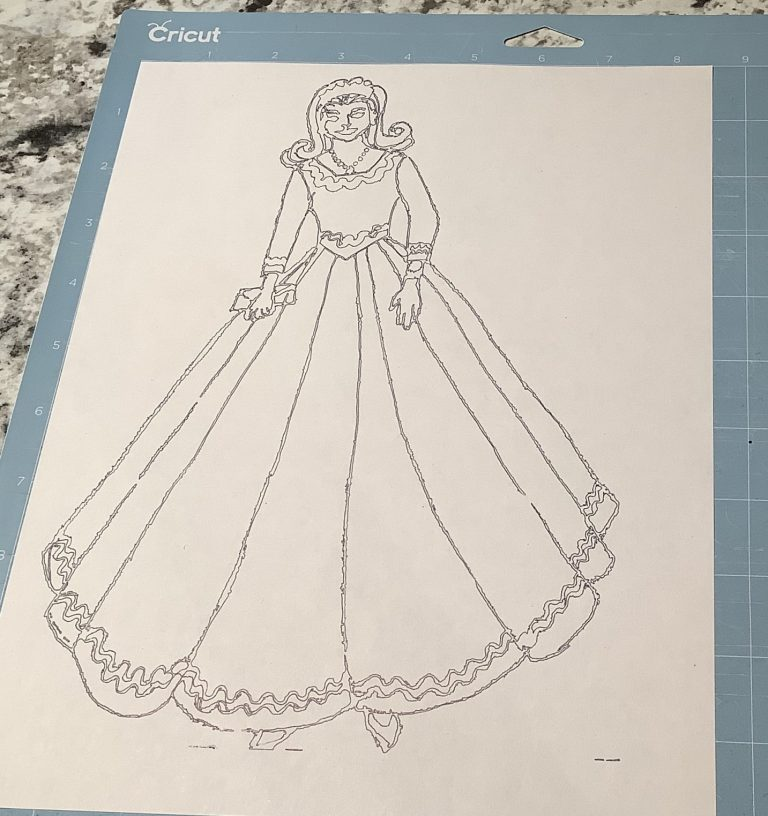 Coloring pages with a cricut