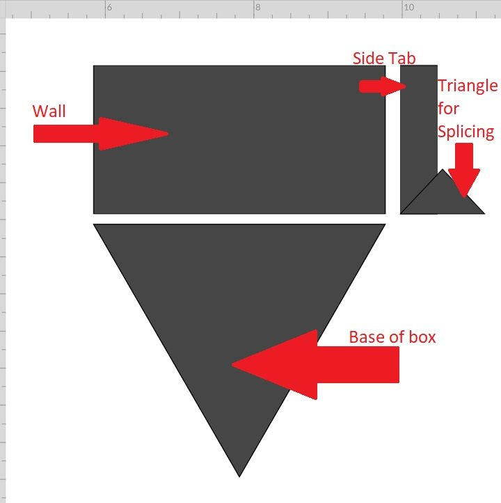 designing side wall of hexagon paper box
