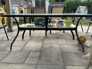 Read more about the article How to Add a Shelf under a Patio Table