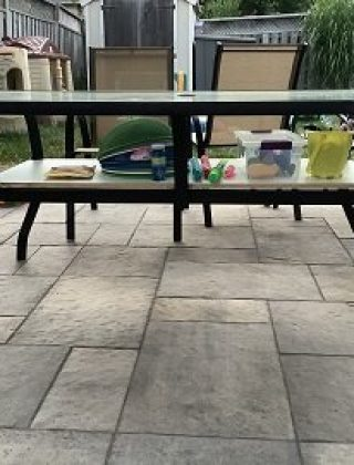How to Add a Shelf under a Patio Table