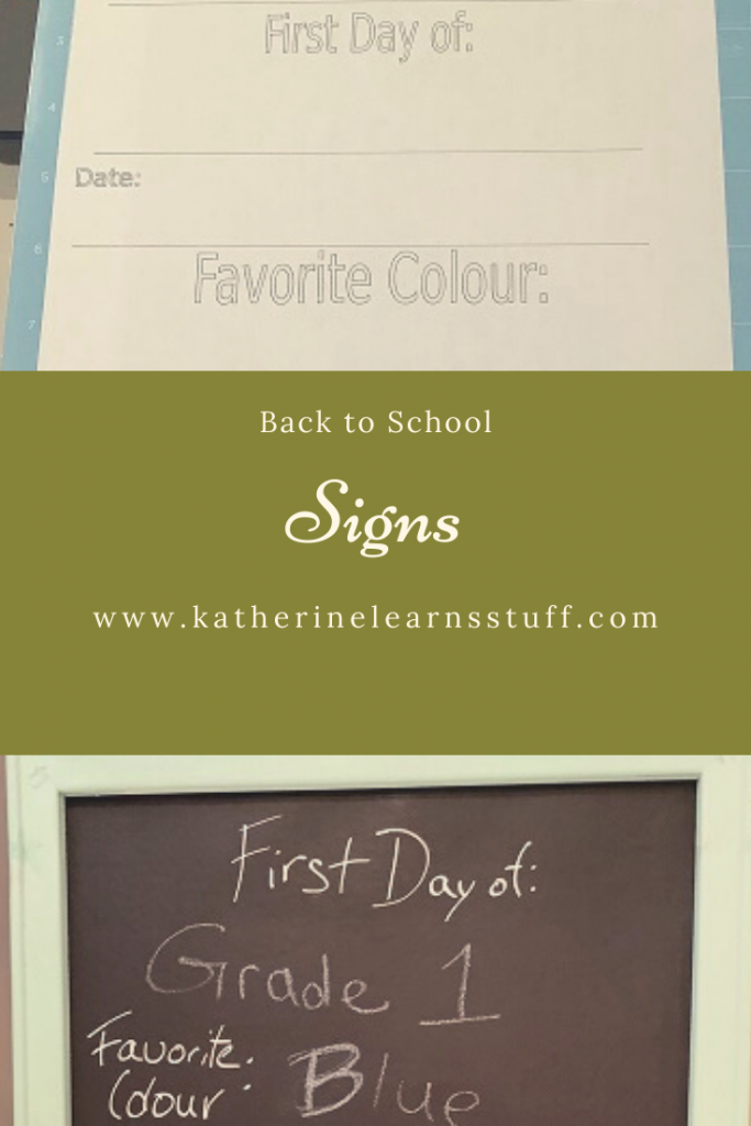 first day of school sign pin