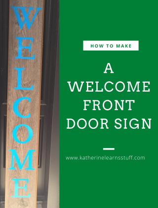 How to Make a Welcome Door Sign