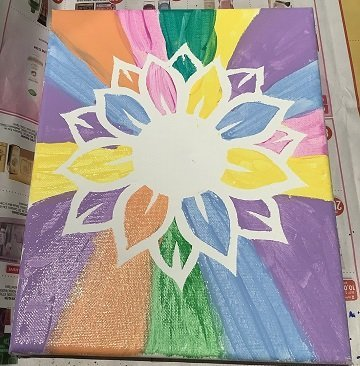 paint with vinyl on canvas