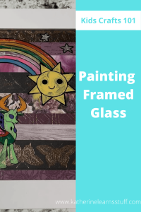 painting framed glass pin
