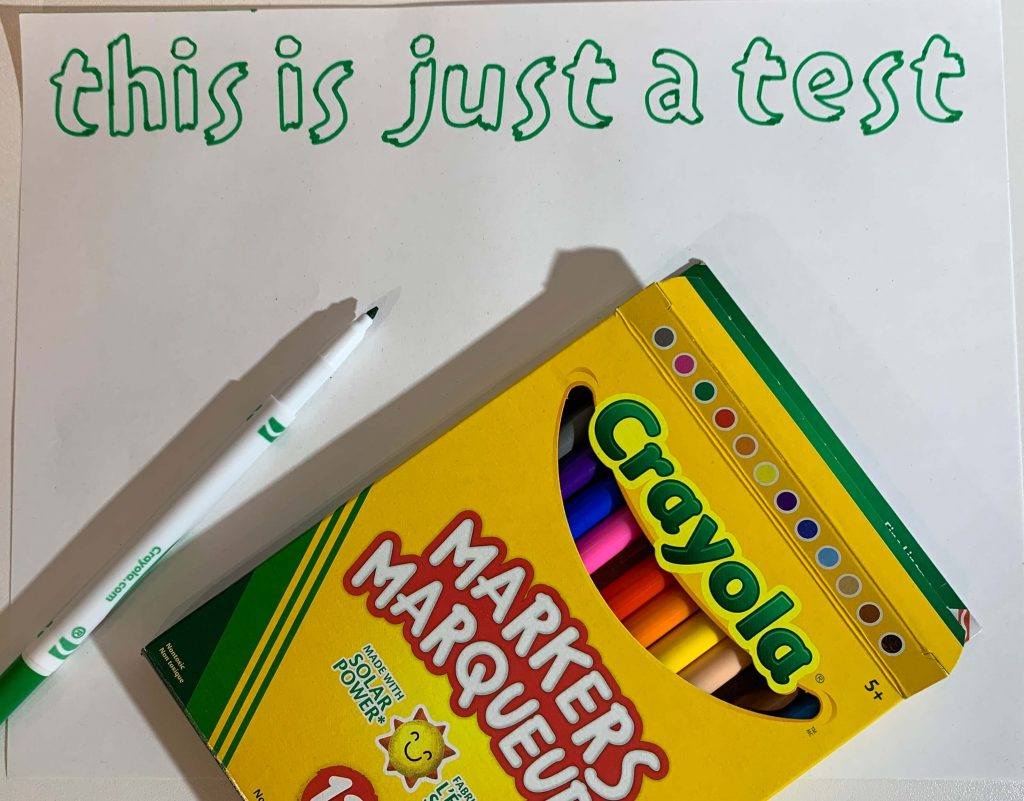 Crayola Fine Point markers fit in Cricut